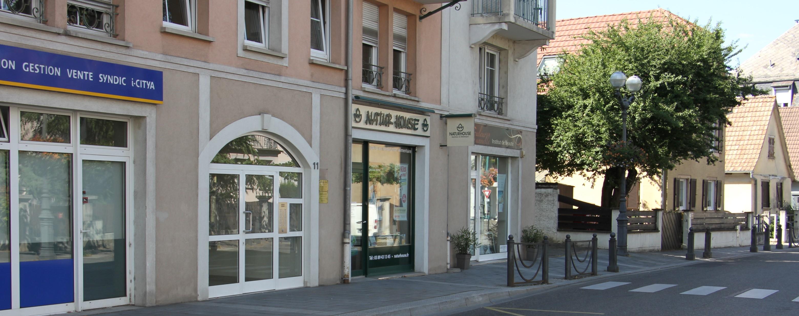 Entrée du cabinet dentaire du Dr Ebner, à Riedisheim
